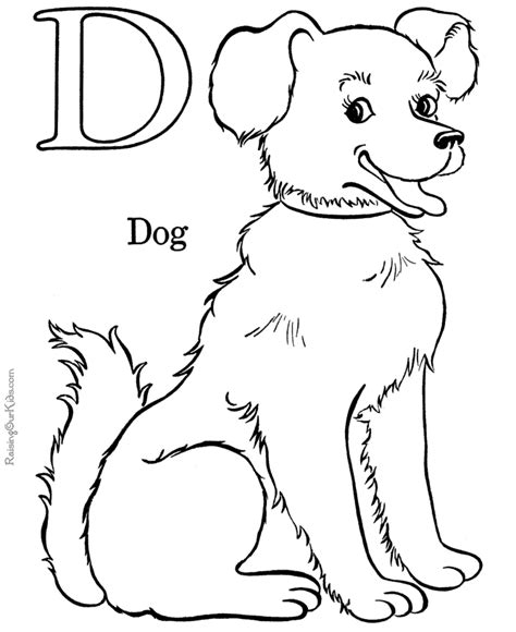 coloring activity pages quot d quot is for quot dog quot coloring page