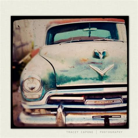 vintage car wall decor photography of a vintage chrysler route 66 car