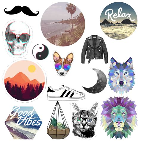 printable hipster stickers hipster tumblr stickers design craft on carousell