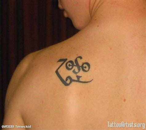 zoso tattoo designs led zeppelin tribute on back