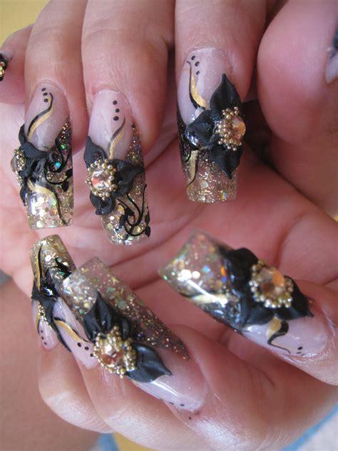 imagenes de uñas decoradas en tercera dimension dise 241 os de u 241 as de acrilico show nails 174
