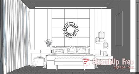 interior bedroom scene sketchup model  xuan khanh