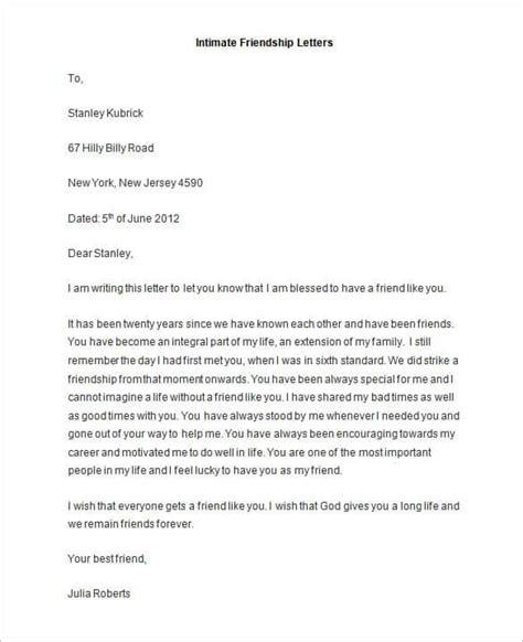 friendship letter format friendly letter templates 44 free sle exle