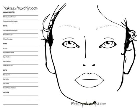 makeup charts template 157 best images about charts on