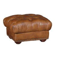 brown leather circle ottoman light brown leather ottoman rc willey furniture store