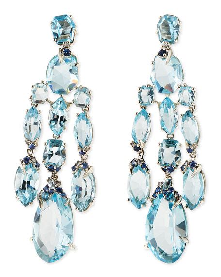 Blue Topaz Chandelier Earrings Bittar Blue Topaz Quartz Sapphire Chandelier Earrings