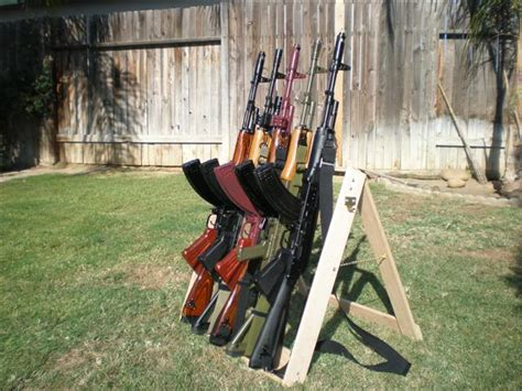 build homemade gun rack  plans