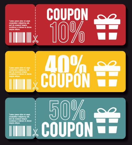 Free 3 Folded Coupon Templates Vector Titanui Adobe Illustrator Coupon Template