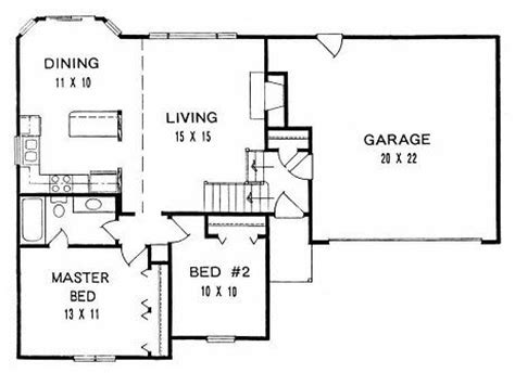 bi level house floor plans plan 925 bi level first floor plan plans