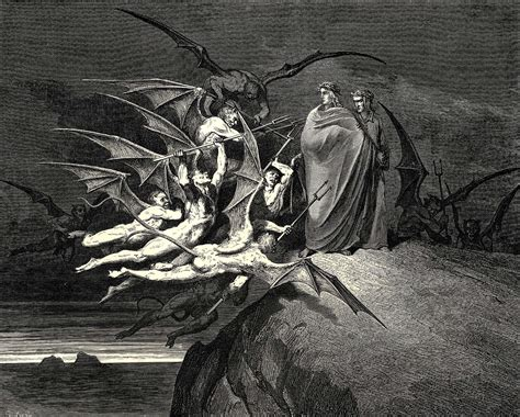 Dore S Illustrations For Dante S Comedy the inferno canto 21 dore gustave wikiart org