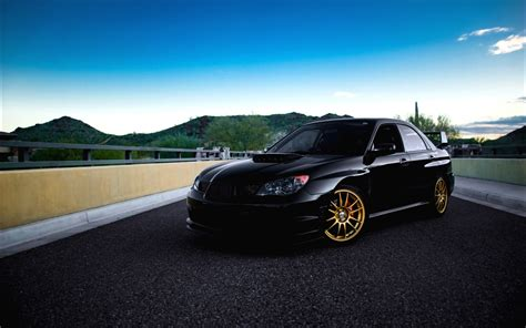 subaru coupe black subaru impreza wrx sti car wallpaper hd wallpaper