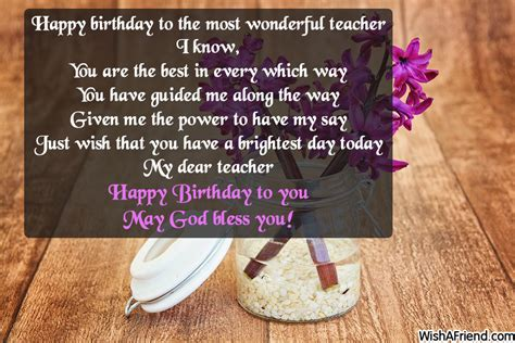Happy Birthday Quotes For Professor Birthday Messages For Teacher Page 1