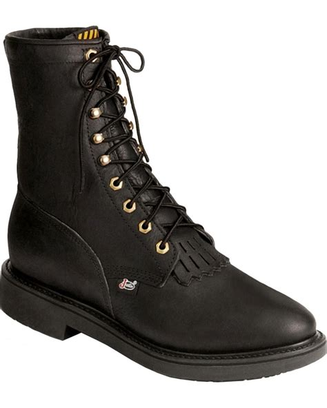 lace up work boots justin s original 8 quot lace up work boot toe 763