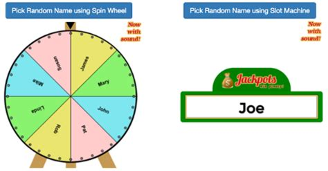 Or Name Picker Random Name Picker Name Randomly With Spin Wheel Or Slot Machine