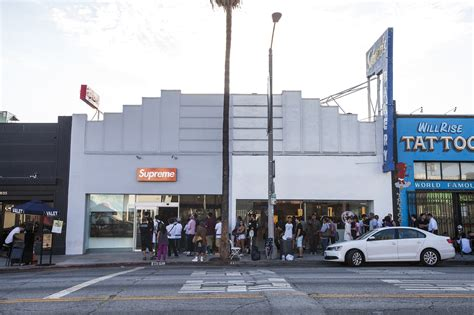 supreme la supreme shopping in fairfax district los angeles