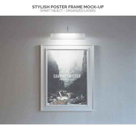 light up poster frame lighted poster frame mock up psd file free