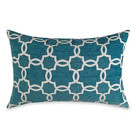 teal bed pillows linked tile teal oblong toss pillow bed bath beyond