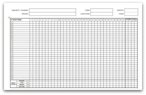 monthly employee attendance record template 9 monthly attendance sheet templates excel templates