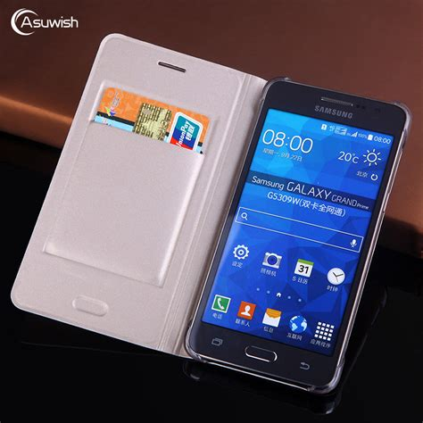 Leather Samsung Galaxy Grand Duos Flip Flipcase Cover Flipcover 1 aliexpress buy asuwish flip cover leather for samsung galaxy grand prime duos g530