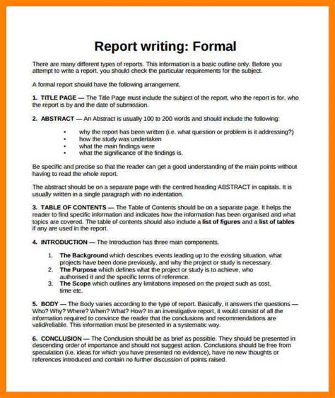 report writing sles format of writing a report and the sles 28 images
