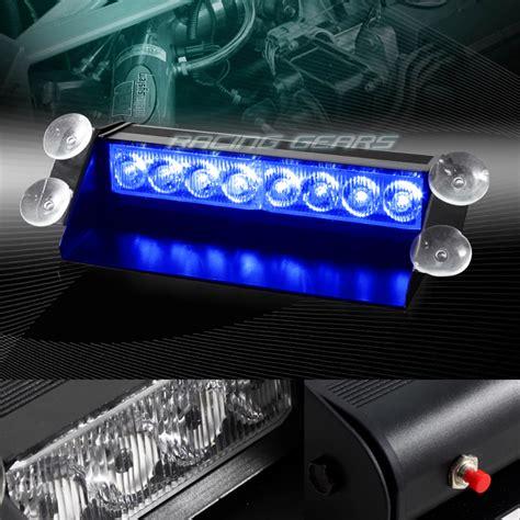 Emergency Lights For Cars by 8 Led Blue Emergency Car Truck Dashboard Warning Flash