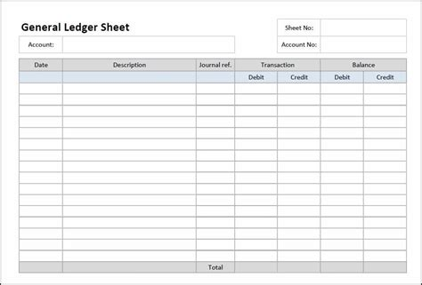 5 General Ledger Templates Word Excel Pdf Templates General Ledger Template