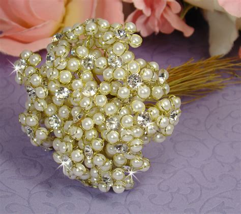 Pearl Flower Bounch Earings gold ivory pearl flower bouquet jewels bouquet jewelry