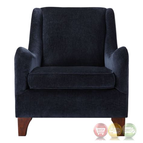 Plush Armchair Ferris Plush Midnight Blue Lounge Armchair With Curved