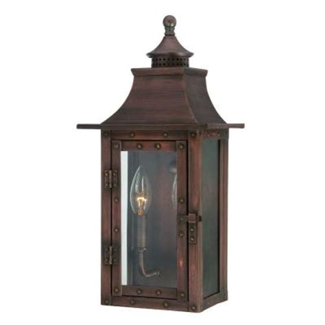 Outdoor Copper Light Fixtures Acclaim Lighting St Charles Collection 2 Light Copper Pantina Outdoor Wall Mount Light Fixture