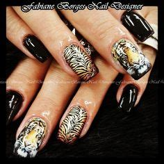 tiger pattern nail art tiger nail art tutorial videos by nded on pinterest
