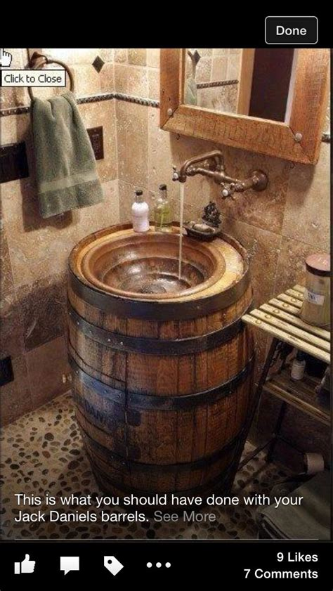 jack daniels bathroom jack daniels whiskey barrel sink bathroom pinterest