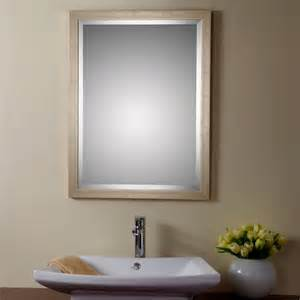 vanity wall mirrors for bathroom decoraport reversible framed bathroom vanity wall