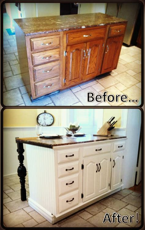 Kitchen Cabinet Diy Diy Kitchen Island Renovation Pieces Of Me