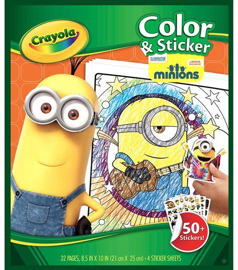 Minions Reusable Sticker Book crayola color sticker book minions jo