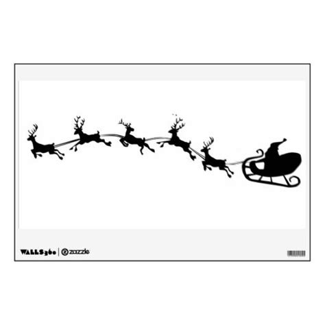 printable santa sleigh stencil 63 best images about silhouettes on pinterest reindeer