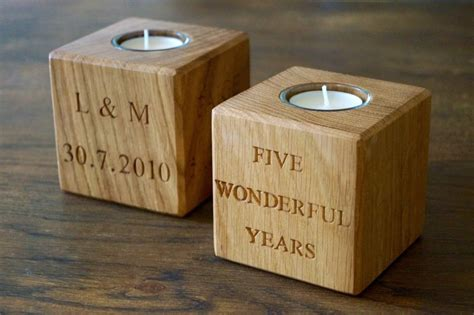 our personalised wooden tea light holders makemesomethingspecial