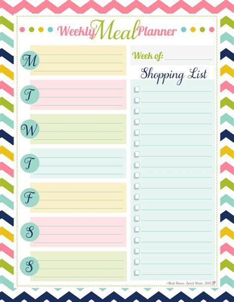 pinterest printable meal planner weekly meal planner free printable time management tips
