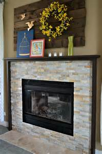 our diy fireplace mantel