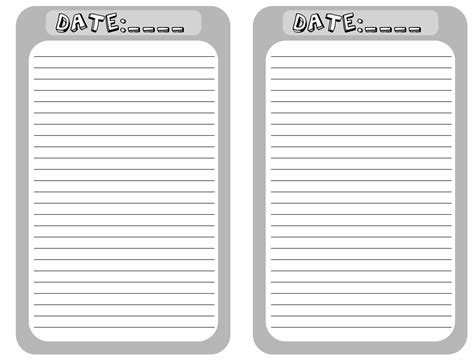 printable blank journal pages printable blank journal pages pictures to pin on pinterest