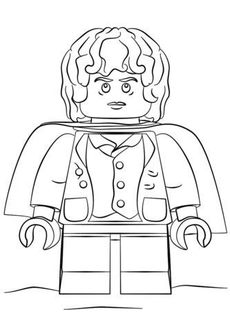 Desenho de Lego Frodo para colorir   Desenhos para colorir