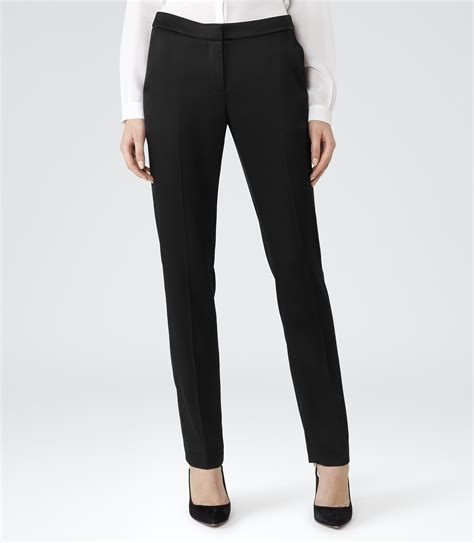 prospect black tailored trousers reiss