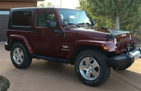burgundy jeep wrangler 2 door 2008 jeep wrangler fully loaded 2 door dual top