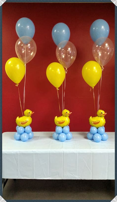 Ducky Baby Shower Decorations by By Rosielloons Baby Shower Duckies Baby