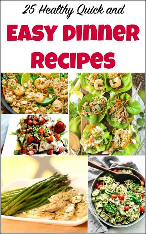 healthy quick  easy dinner recipes    home
