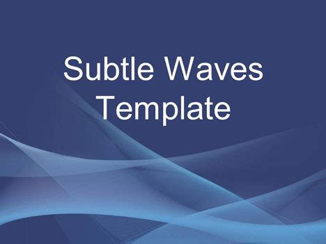 Subtle Waves Business Template Presentation Magazine Free Powerpoint Template
