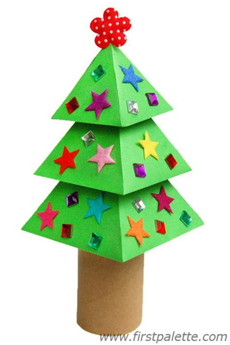 xmas tree activity out of construction paper 3d paper tree craft crafts firstpalette