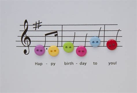 Musical Birthday Cards Happy Birthday Music Card Birthday Card With Button By