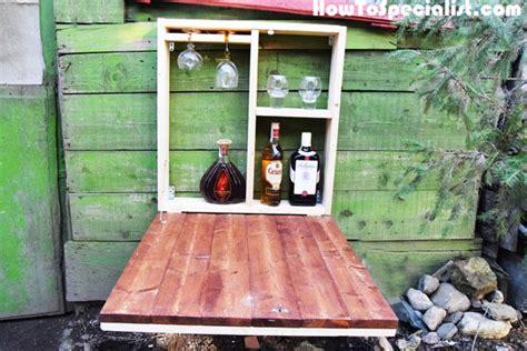 diy outdoor wall mounted bar myoutdoorplans