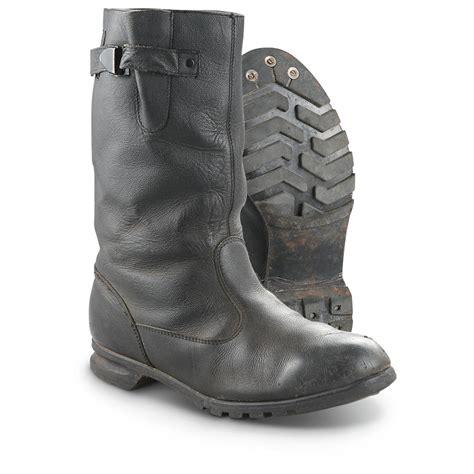 used surplus leather boots black 293895