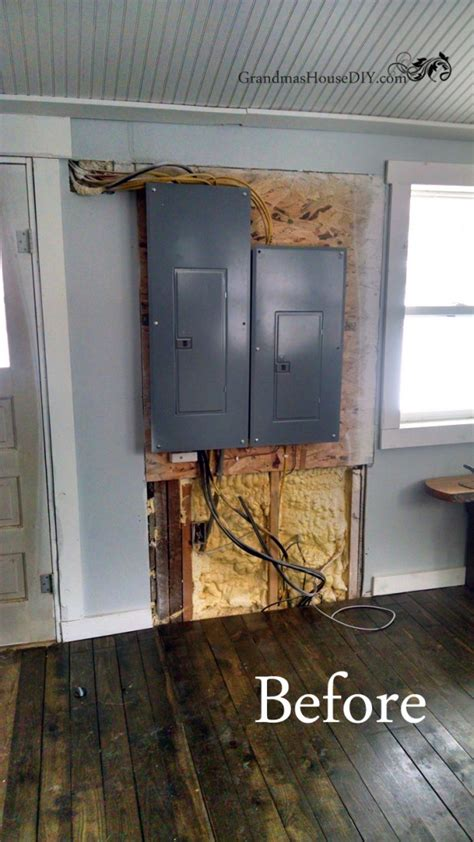 Build A Closet Door by Covering Up An Eye Sore In Entry Way